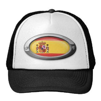 Spanish Flag in Steel Frame Mesh Hats