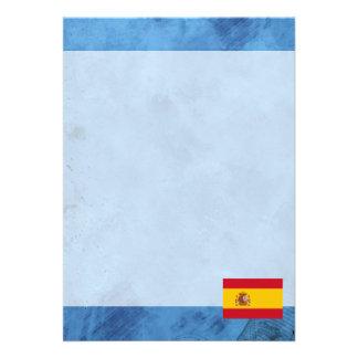 Spanish flag 13 cm x 18 cm invitation card