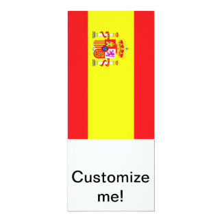Spanish Flag 10 Cm X 24 Cm Invitation Card