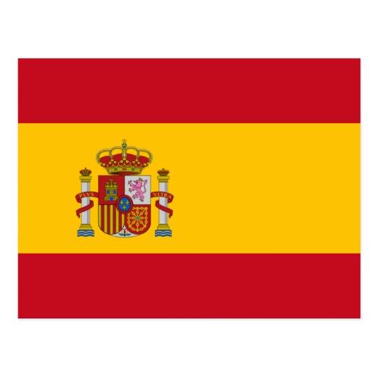 Spanish flag of Spain custom postcards