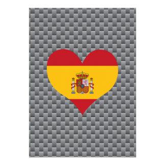 Spanish Flag on a cloudy background 13 Cm X 18 Cm Invitation Card