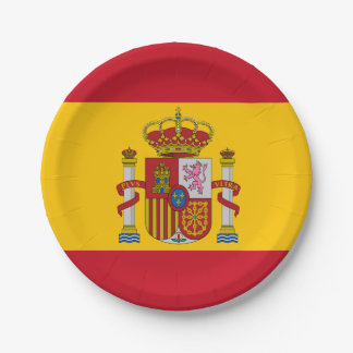 Spanish flag paper plate
