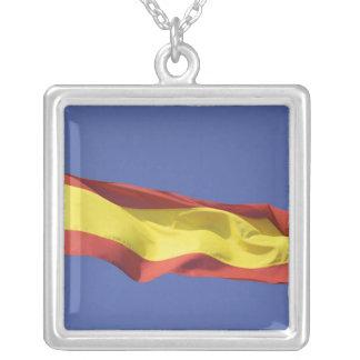 Spanish Flag RF) Square Pendant Necklace