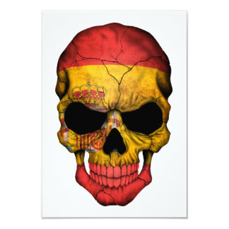 Spanish Flag Skull Invitations