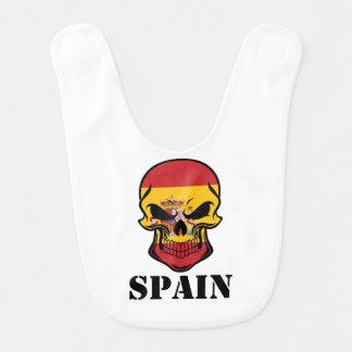 Spanish Flag Skull Spain Bib