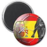 Spanish flag soccer ball Spain soccer gifts Fridge Magnets