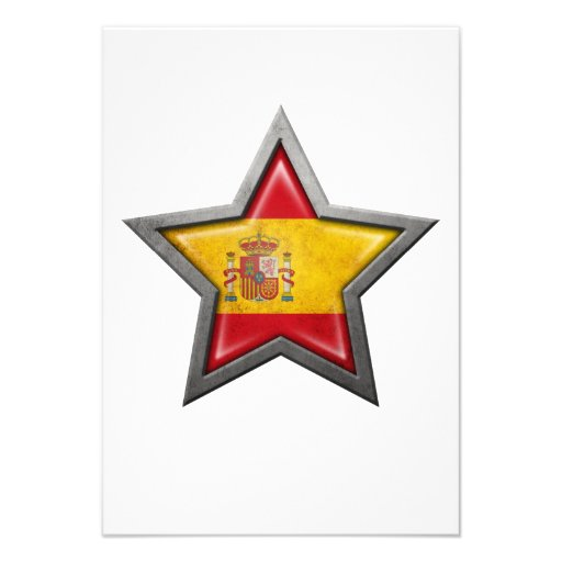 Spanish Flag Star Invite