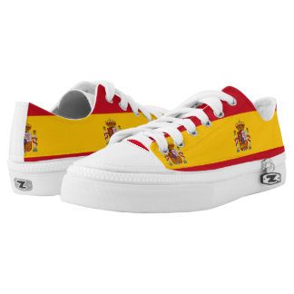 Spanish Flag tennis shoes Printed Shoes