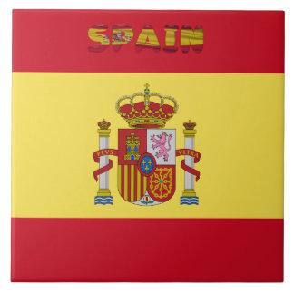 Spanish flag tile
