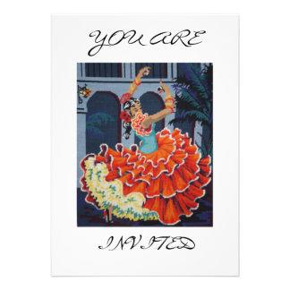 Spanish Flamenco Dancer You Are Invited Invitation