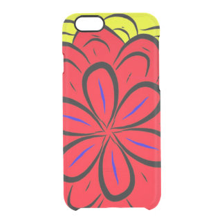 Spanish flor clear iPhone 6/6S case