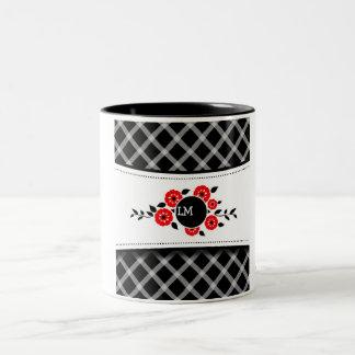 SPANISH FLOWER 2 Two-Tone COFFEE MUG