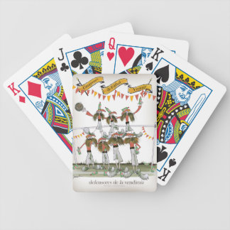spanish football defence bicycle playing cards
