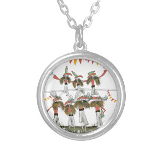 spanish football defence silver plated necklace