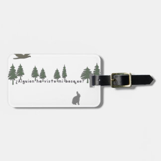 Spanish-Forest Luggage Tag