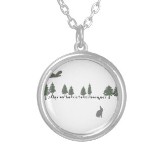 Spanish-Forest Silver Plated Necklace