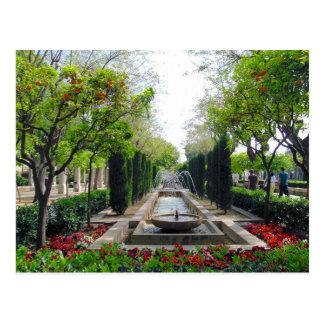 Spanish Garden Fountain Postcard