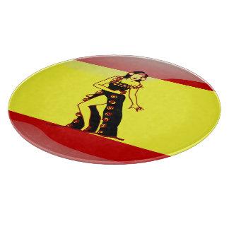 Spanish glossy flag cutting board