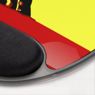 Spanish glossy flag gel mouse pad