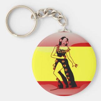 Spanish glossy flag key ring