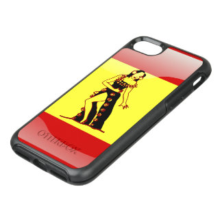 Spanish glossy flag OtterBox symmetry iPhone 7 case
