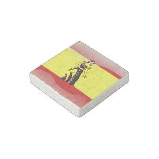Spanish glossy flag stone magnet