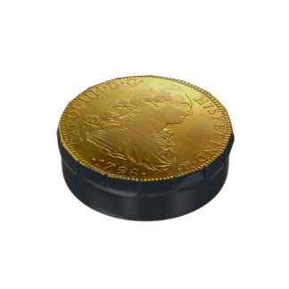 Spanish Gold Doubloon Oversized Reproduction Candy Tins