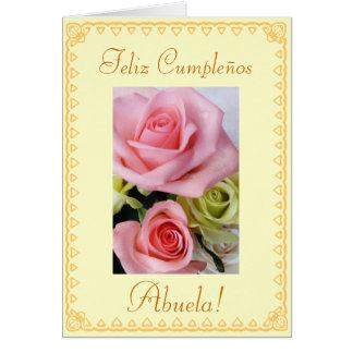 Spanish: Grandmas's birthday Cumpleanos / Abuela Card