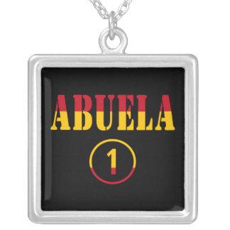 Spanish Grandmothers : Abuela Numero Uno Square Pendant Necklace