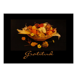 Spanish Gratitud Thanksgiving Poster