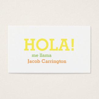 Spanish Greeting Business Card
