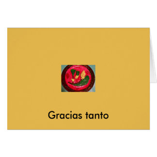 "SPANISH, GREETING CARD, ""Thank you Much!"" NoteCard Greeting Card"