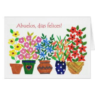 Spanish Greeting Grandparents Day Card