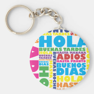 Spanish Greetings Key Ring