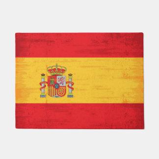 Spanish grunge flag doormat