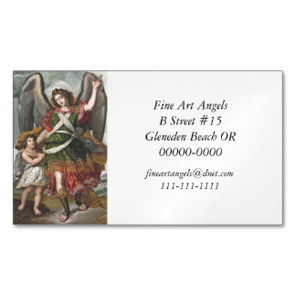 Spanish Guardian Angel and Child Magnetic Business Card