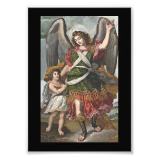 Spanish Guardian Angel and Child Photo Print