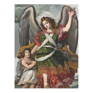 Spanish Guardian Angel and Child Postcard