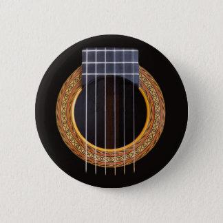 Spanish Guitar Hole 6 Cm Round Badge