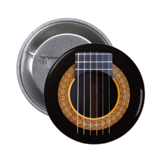 Spanish Guitar Hole 6 Cm Round Badge