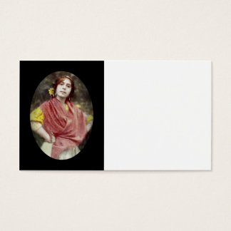 Spanish Gypsy Woman Business Card