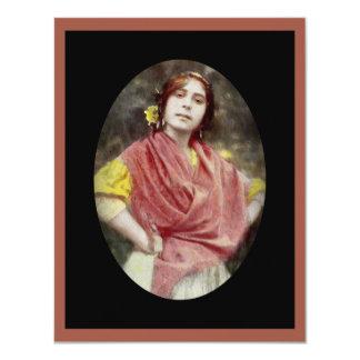 Spanish Gypsy Woman Card