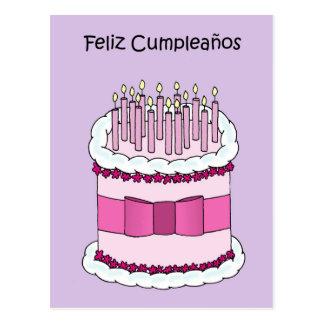 Spanish Happy Birthday Postcard