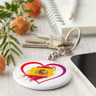 Spanish heart key ring