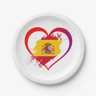 Spanish heart paper plate