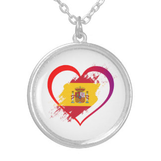 Spanish heart silver plated necklace