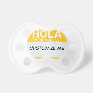 Spanish Hello My Name Is ... Customisable Dummy