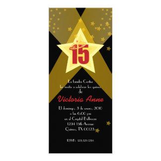 spanish HOLLYWOOD quinceañera custom invitation