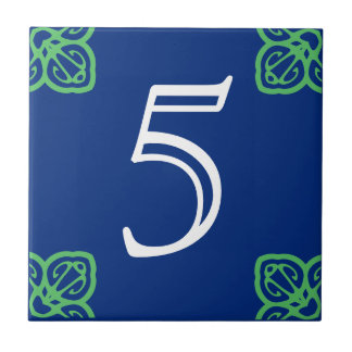Spanish House Number Tile