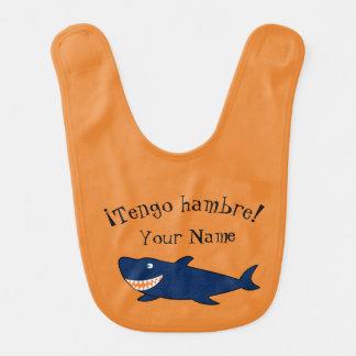 "Spanish ""I'm Hungry!"" Shark Bib"